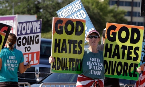 Westboro members protest high-profile funerals and events, such as The Response, a day long prayer event in Houston in 2011.