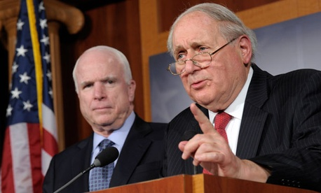 Sens. John McCain, R-Ariz., and Carl Levin, D-Mich., held a joint press conference Friday.