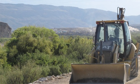 Construction started in 2011 on an unstaffed computerized Southwest border station at Texas&#39; Big Bend National Park.