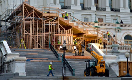 Construction to structures at the United States Capitol have been going on since November.
