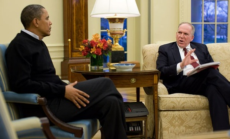 John Brennan briefs Barack Obama on national security issues in 2010.