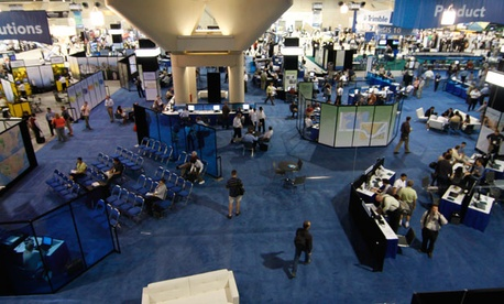 Trade shows like the ESRI convention draw thousands of visitors.