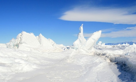 The Ross Sea&#39;s glaciers are part of Antarctica&#39;s scenery.