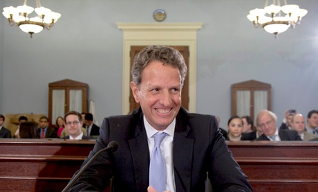 Treasury Secretary Timothy Geithner stepped down last month.