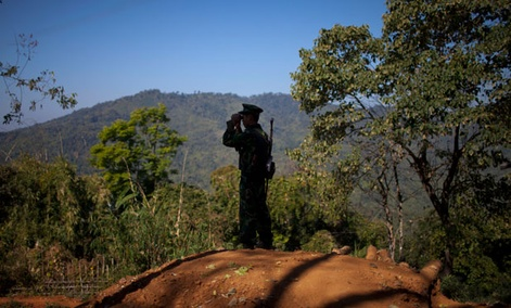 A Kachin outpost is along the Chinese border.
