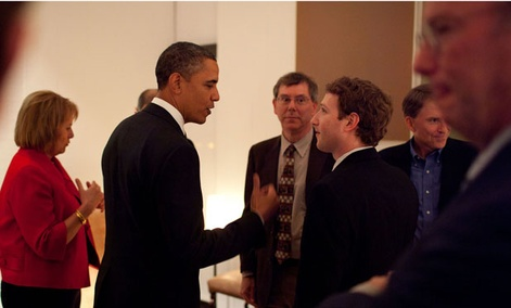 Obama met with tech officials including Facebook&#39;s Mark Zuckerberg and Google&#39;s Eric Schmidt in 2011.