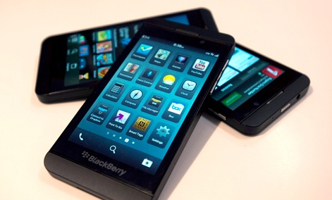 The Blackberry Z10 as it goes on sale in Toronto on Tuesday February 5, 2013.