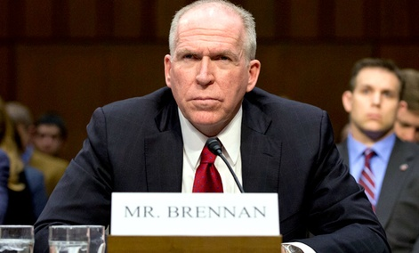 CIA Director nominee John Brennan defends President Barack Obama's policies in the war on terror as he testifies on Capitol Hill in Washington, Thursday, Feb. 7, 2013.