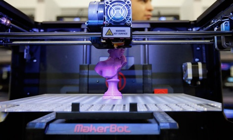 The MakerBot Replicator 2X 3D desktop printer was showcased at International Consumer Electronics Show in Las Vegas last month.