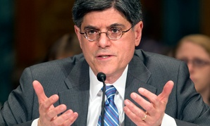 Jack Lew, President Barack Obama's choice to be treasury secretary, testifies on Capitol Hill in Washington.