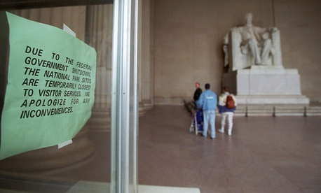 The federal government last shut down in the mid-1990s, affecting federal parks and monument staff.