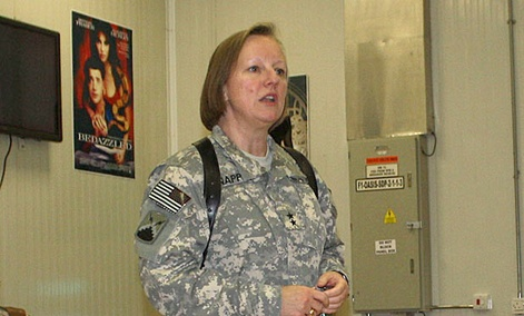 "Maj. Gen. Jennifer Napper, Cyber Command director of plans and policy, said , ""We work with every single one of the other CoComs."""