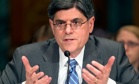 Newly confirmed treasury secretary Jack Lew.