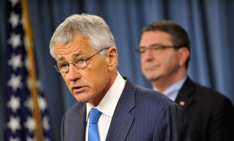 Defense Secretary Chuck Hagel and Deputy Defense Secretary Ashton B. Carter laid out a rough schedule beginning at midnight Friday and stretching out over the coming weeks at their press briefing Friday.