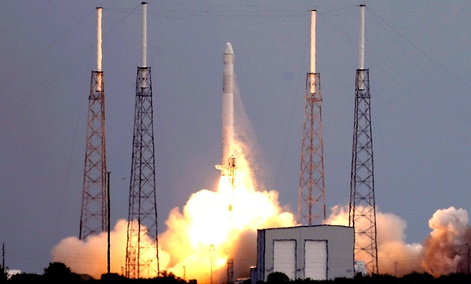 The Falcon 9 SpaceX rocket lifts off from launch complex 40 at the Cape Canaveral Air Force Station in Cape Canaveral, Fla., Friday, March 1, 2013.