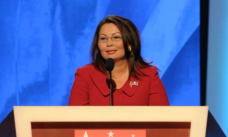Rep. Tammy Duckworth, D-Ill., said in a statement she will take an 8.4 percent pay cut to match the reduction on most discretionary programs.