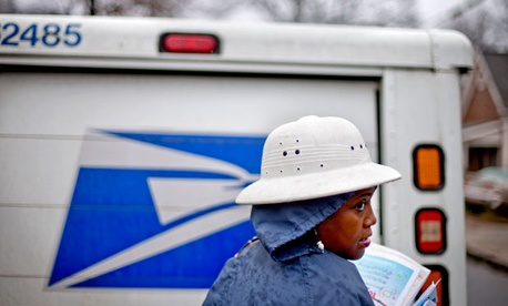 Jamesa Euler delivers mail in Atlanta in early February.