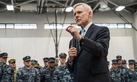 Navy Secretary Ray Mabus announced plans to pare back the service's operations, investments and deployments Saturday.