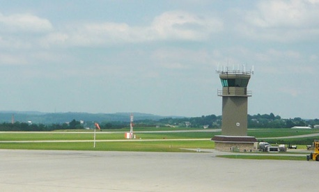 The air traffic tower at Latrobe, Pennsylvania&#39;s Arnold Palmer Regional Airport is slated to close due to the cuts.