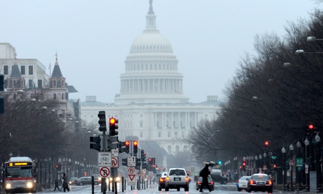 A view of Capitol Hill from Pennsylvania Avenue in Washington, Wednesday, March 6, 2013.