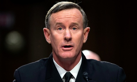Navy Adm. William McRaven, commander, U.S. Special Operations Command, testifies on Capitol Hill in Washington, Tuesday, March 5, 2013.