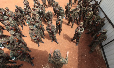 A U.S. Marine team trains Ugandan forces to face groups like al-Shabaab.