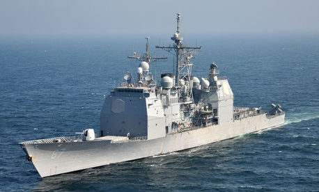 The Ticonderoga-class guided-missile cruiser USS Shiloh is one of the Navy's ships.