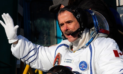Canadian astronaut Chris Hadfield, a crew member of the mission to the International Space Station.
