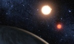 An artist&#39;s rendering of Kepler-16b