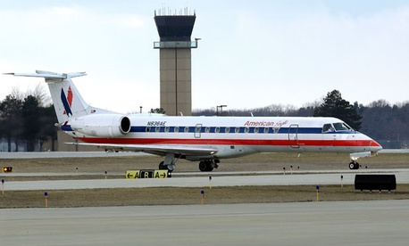 The tower at Abraham Lincoln Capital Airport in Springfield, Ill., is one of the possible closures.