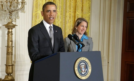 Obama introduced Sylvia Matthews Burwell last month.