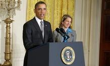 Obama introduced Sylvia Matthews Burwell last month.