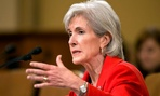 HHS Secretary Kathleen Sebelius testifies on Capitol Hill in Washington.