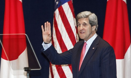 John Kerry visited Japan Monday.