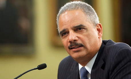 Attorney General Eric Holder testifies on Capitol Hill in Washington, on April 18, 2013.