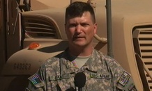 Army Lt. Col. Darin Haas shot a video for the Defense Department saying hello to those back home in 2010.