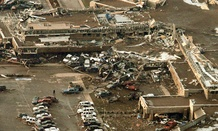 Oklahoma&#39;s Moore Medical Center was destroyed after it was hit by a massive tornado Monday.