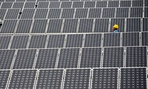 A 20 Mega Watt solar farm in Shilin near Kunming, in southwest China's Yunnan province.