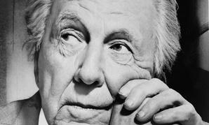 Portrait of Frank Lloyd Wright.