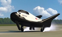 An artist's conception of the Dream Chaser.