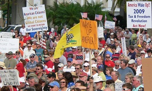 Tea Party members rallied in Florida in 2009.