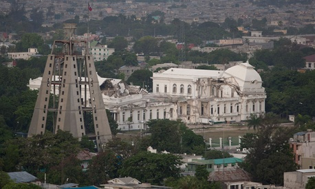 The National Palace from the Fort Nationale neighborhood in Port-au-Prince has not been rebuilt since the 2010 earthquake.