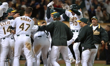 The 2002 Oakland Athletics were the subject of Michael Lewis' book.