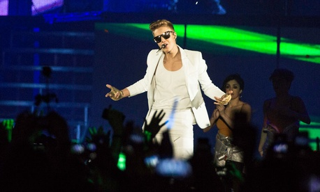 Justin Bieber's European tour visited Oslo's Telenor Arena in April.