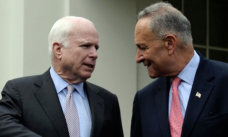Republican Sen. John McCain and Democratic Sen. Chuck Schumer reached the deal Tuesday morning.