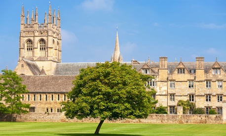Merton College is part of Oxford University.