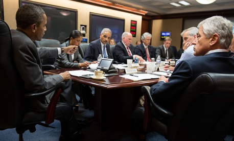 Obama met with his national security team about Egypt on July 3.