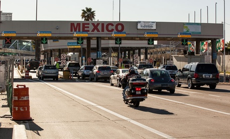 The San Ysidro border crossing is one of the busier crossings.
