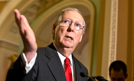 Senate Minority Leader Mitch McConnell has not joined the defunding effort or taken a public position.