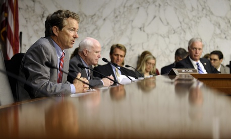 Senate Foreign Relations Committee members attend the hearing Wednesday.